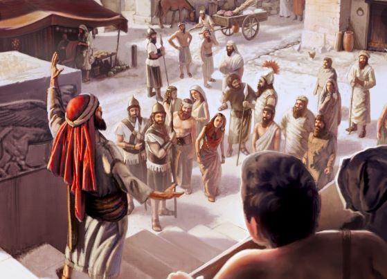Jonás predica la destrucción de Nínive